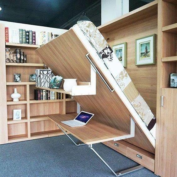 Newest Design China hidden wall bed Supplier, Modern Murphy Wall Bed #murphybed
