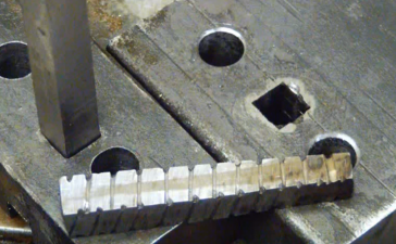 square hole in metal