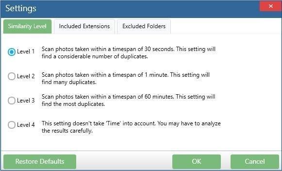 Settings: Remove duplicate Photos