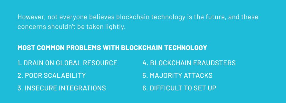 common blockchain problems
