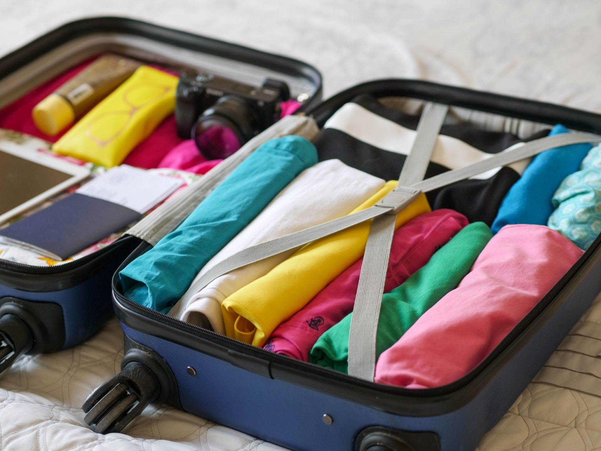 folding cloths while travel